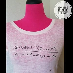 NWT Do What You Love Express Graphic Tee Sz M